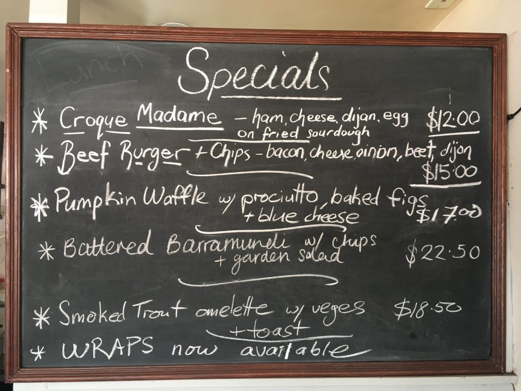 Brewhaha cafe hornsby specials october 2017